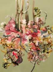Anthropoflora. 2007. Oil and acrylic on canvas. 176 x 127cm. (sold)