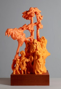 Bacchus Withour Ariadne. 2010. Pigmented silicone, wood, wire, sapele. 43 x 30 x 21cm £1500