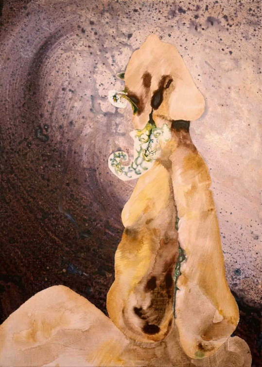 Anthropomorph II. 2007. Oil and acrylic on canvas. Circa 61 x 45 cm. £925