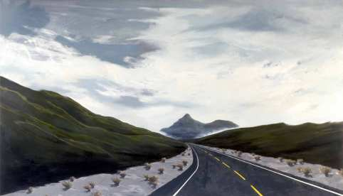 Back to the Pap. 2004. Oil and acrylic on canvas. Circa 125 x 214cm £2750