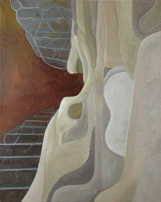 Enter the Fold. Oil and acrylic on linen. 76 x 61cm. £1200