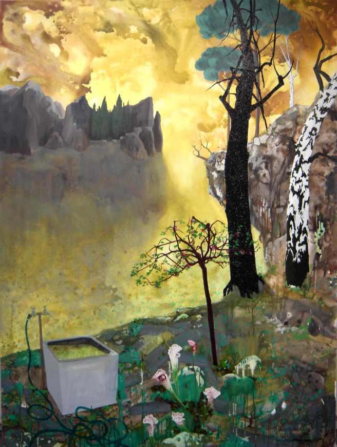Habitat I. 2006. Oil and acrylic on canvas. 244 x 204cm. (Sold)