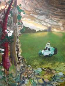 Habitat II. 2006. Oil and acrylic on canvas. 244 x 204cm £3750