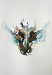 Mask II. 2009. 69 x 53 cm, Framed. £560