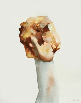 Miss Thimble. 2009. Watercolour on paper. 48 x 37cm. £445