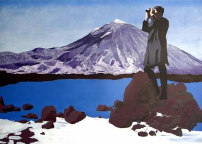 Mount Teide. 2002. Acrylic and glass beads on canvas. 137 x 183cm. £2450